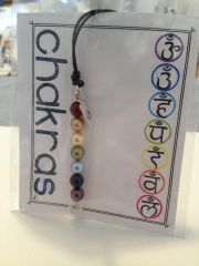 Pearl Chakra Linear Necklace with Lotus Charm