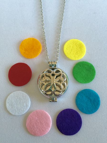Oil Diffuser Necklace with Multicolor Oil Pads