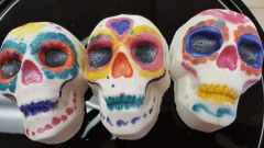 Paint your own Sugar Skull Bath Bomb