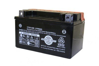 12V 6AH Battery YTX7A-BS 50CC MAD DOG BATTERY