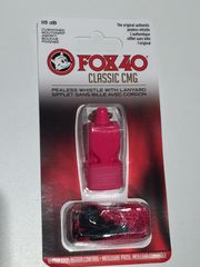 Pink FOX40 Whistle w/ Mouth Guard & Lanyard