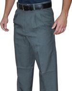 SMITTY PERFORMANCE POLY-SPANDEX CHARCOAL GREY UMPIRE BASE PANTS WITH EXPANDER WAISTBAND