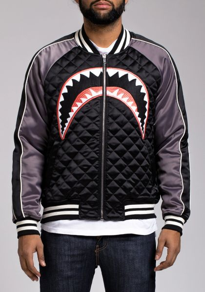 Hudson Quilted Shark Mouth Varsity Jacket Turning Point A Hot Spot