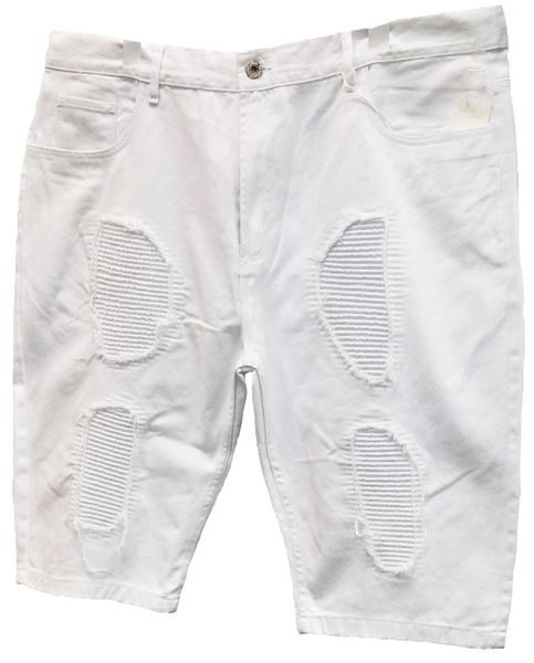 Big And Tall Ripped Biker Denim Shorts By Evolution In Design