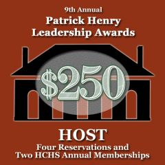 Host Reservation: 9th Annual Patrick Henry Leadership Awards Gala