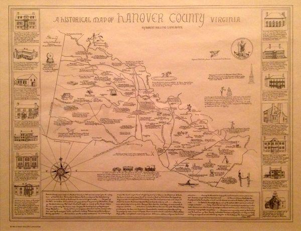 Hanover County Map By Robert B Lancaster Hanover County