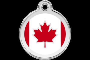 Red Dingo Canadian Flag Pet Tag