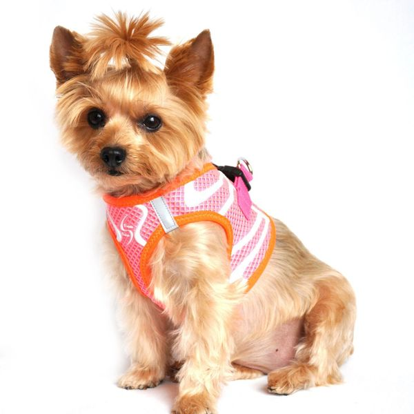 American River Choke Free Dog Harness Neon Sport Collection - Iridescent Pink