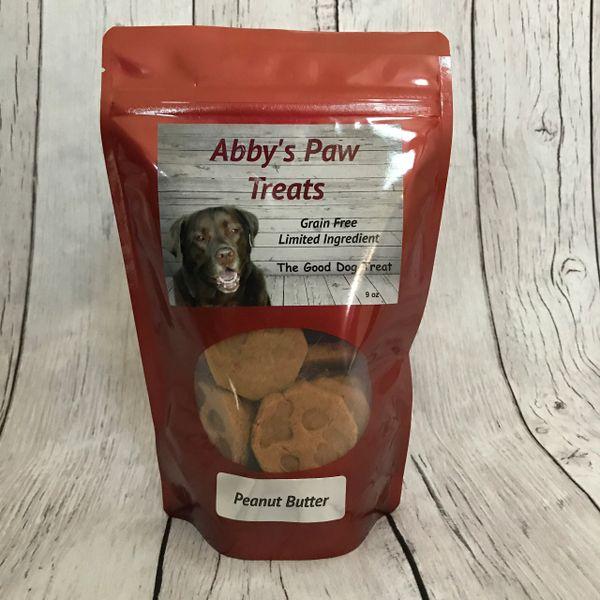 Abby's Paw Dog Treats GRAIN FREE Peanut Butter 9 oz