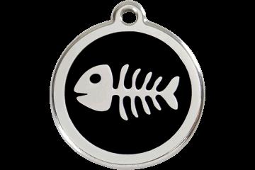 Red Dingo Fish Bone Pet Tag