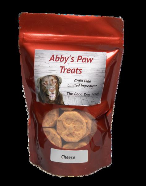 Abby's Paw Dog Treats GRAIN FREE Cheddar Cheese 9 oz