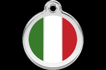 Red Dingo Italian Flag Pet Tag