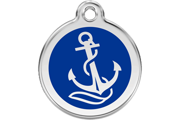 Red Dingo Anchor Pet Tag