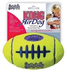Kong AirDog Squeaker Football Dog Toy