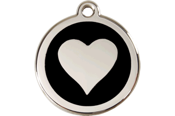 Red Dingo Heart Pet Tag