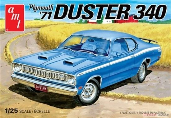 1971 Plymouth Duster 340 Muscle Car Amt 1 25 Plastic Model Kits