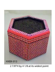 Hexagonal Box (with latticed lid) #13