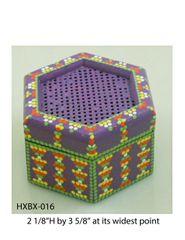 Hexagonal Box (with latticed lid) #16