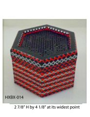 Hexagonal Box (with latticed lid) #14