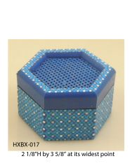 Hexagonal Box (with latticed lid) #17