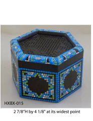 Hexagonal Box (with latticed lid) #15