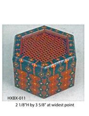 Hexagonal Box (with latticed lid) #11
