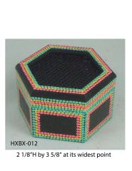 Hexagonal Box (with latticed lid) #12