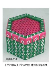 Hexagonal Box (with latticed lid) #10
