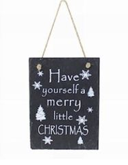 Have Yourself a Merry Little Christmas Slate Plaque