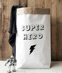 Super Hero Paper Storage Bag