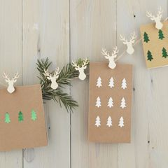Stag Peg and Twine Card Holder