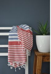 Navy & Red Bodrum Towel