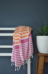 Orange &Cerise Bodrum Towel