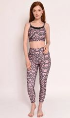 Pink Geo Leggings