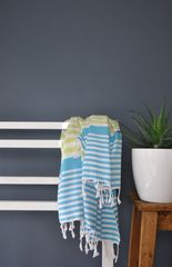 Lime Green & Turquoise Bodrum Towel