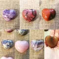 Crystal and Gemstone Hearts