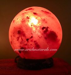Super Moon charged, Sphere Healing Himalayan Salt Lamp