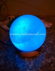 USB Himalyan White Salt Lamp Sphere