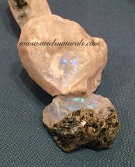 Blue Flash Raw Moonstone Chunks
