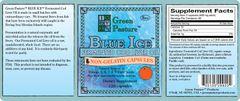 BLUE ICE™ Fermented Cod Liver Oil -Non-Gel Orange CAPSULES