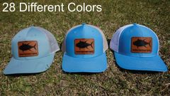 Tuna Fish Leather Patch Hats in 28 Different Colors. Southern Sportsman's Apparel