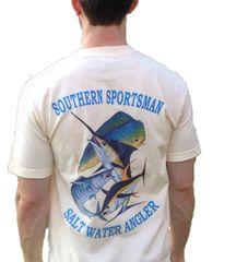 Salt Water Angler Cream Short Sleeve T Shirt