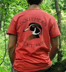 Wood Duck Coral Short Sleeve T shirt - Southern Sportsman's Apparel