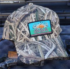 Grass Blade Camo Snapback Hat with our Fine Woven Patch Logo.