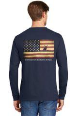 American Flag Buck Navy & Vintage Navy Short Sleeves, Long sleeves & Hoodies - Southern Sportsman's Apparel