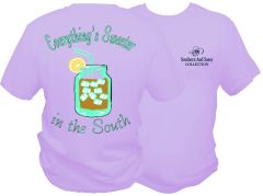 Everything's Sweeter In The South - Lavender Short Sleeve T Shirt - Southern and Sassy COLLECTION