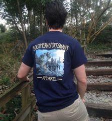 Bass Fishing Navy Short Sleeve T Shirt