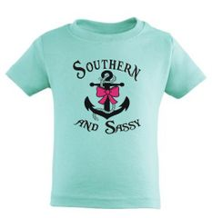 Southern And Sassy Anchor And Bow ( Youth, Toddler, and Infant ) 7 Different Colors