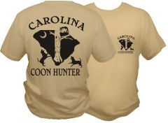 Carolina Coon Hunter Short Sleeve T-Shirt ( 7 Different Colors )