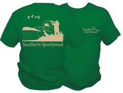 Southern Sportsman Short Sleeve T-shirt, Green with Khaki Print